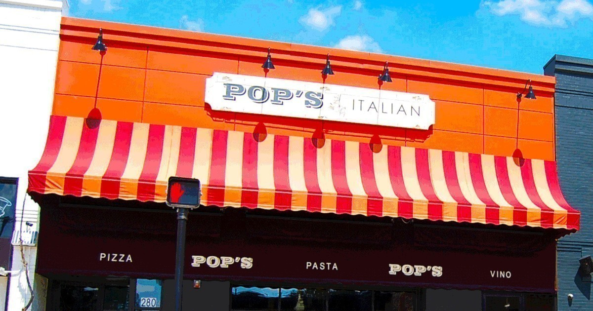 Facade of Pops for Italian in Ferndale